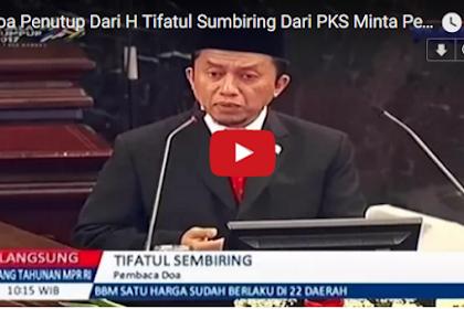 Ini Video Lengkap Do'a Tifatul Sembiring di Sidang MPR Yang Bikin Gerah Politisi PDIP