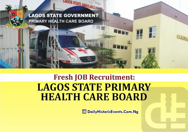 Fresh JOB Recruitment at Lagos State Primary Health Care Board