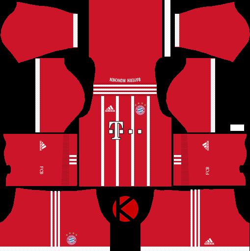 FC Bayern Munich 2017/2018 - Dream League Soccer Kits
