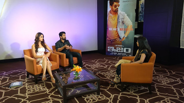 Kalyan ram, Aditi arya participated  in TV Promotions for ISM