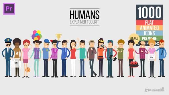 Videohive Humans Explainer Essential Graphics Mogrt 23135812