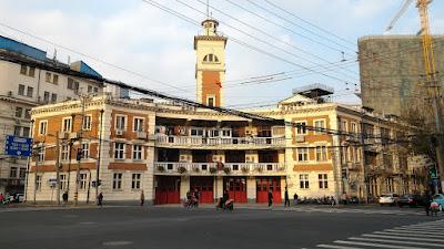 Ancienne école japonaise du quartier transformée aujourd'hui en caserne de pompier