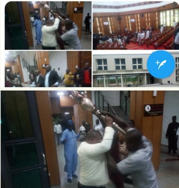VIDEO: Watch how senator and 'thugs' ran away with Senate's mace during plenary