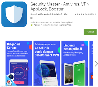 Ulasan Tentang Security Master - Antivirus, VPN, AppLock, Booster