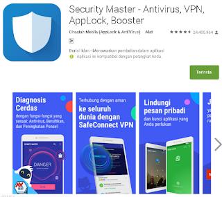 Ulasan Tentang Security Master - Antivirus, VPN, AppLock, Booster