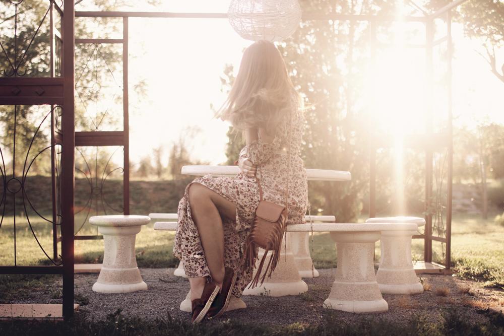 How To wear Maxi Dress Boho Gypsy Look Aimerose Blog