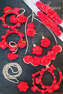 paper Flower Jewellery for haldi