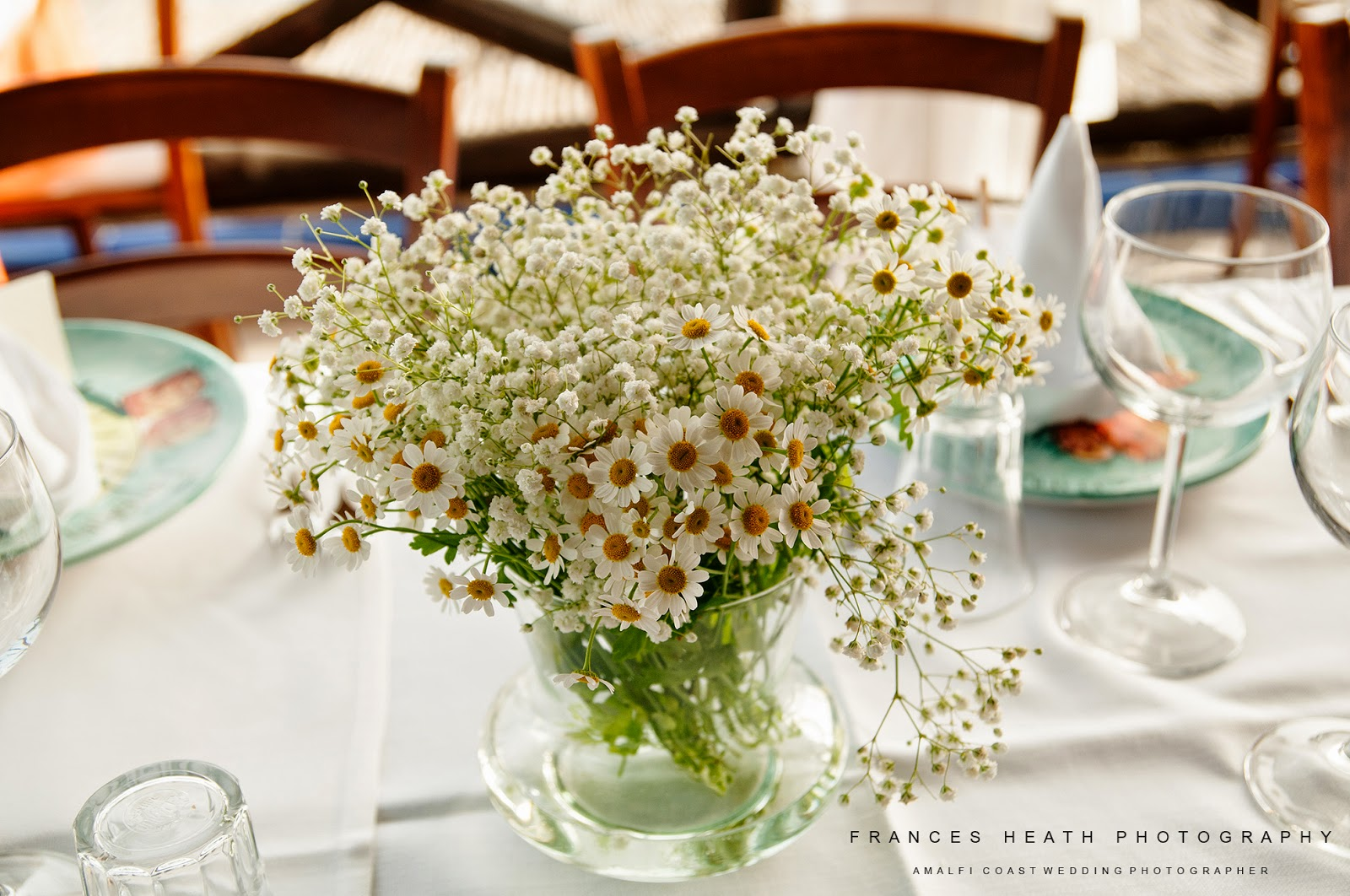 Rustic wedding decorations in Positano