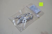 Plastiktüte: DeloveOhrhänger mit 2 fach gedrehten Spiralen Elementen, 925 Sterling Silber pl., Ohrringe, Damen Schmuck, Geschenk