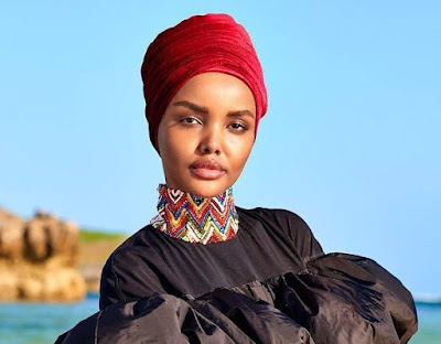Halima Aden becomes the first Sports Illustrated Swimsuit model to wear a hijab and burkini