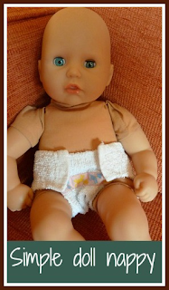 How to sew a simple dolly nappy