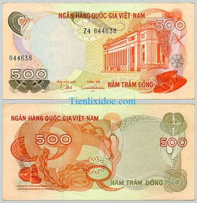 500 đồng việt nam cộng hòa 1969