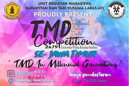 Lomba Tari Tradisional & Modern TMD 2019 Umum Se-Jawa Timur