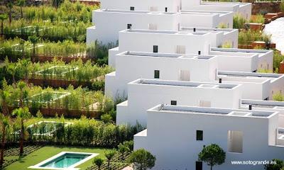 Casas modernas contemporáneas mediterráneas escalonadas