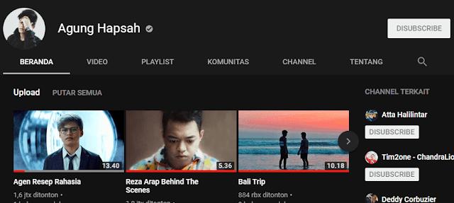 Berapa Jumlah Subscriber Channel Youtube Agung Hapsah? Simak disini!