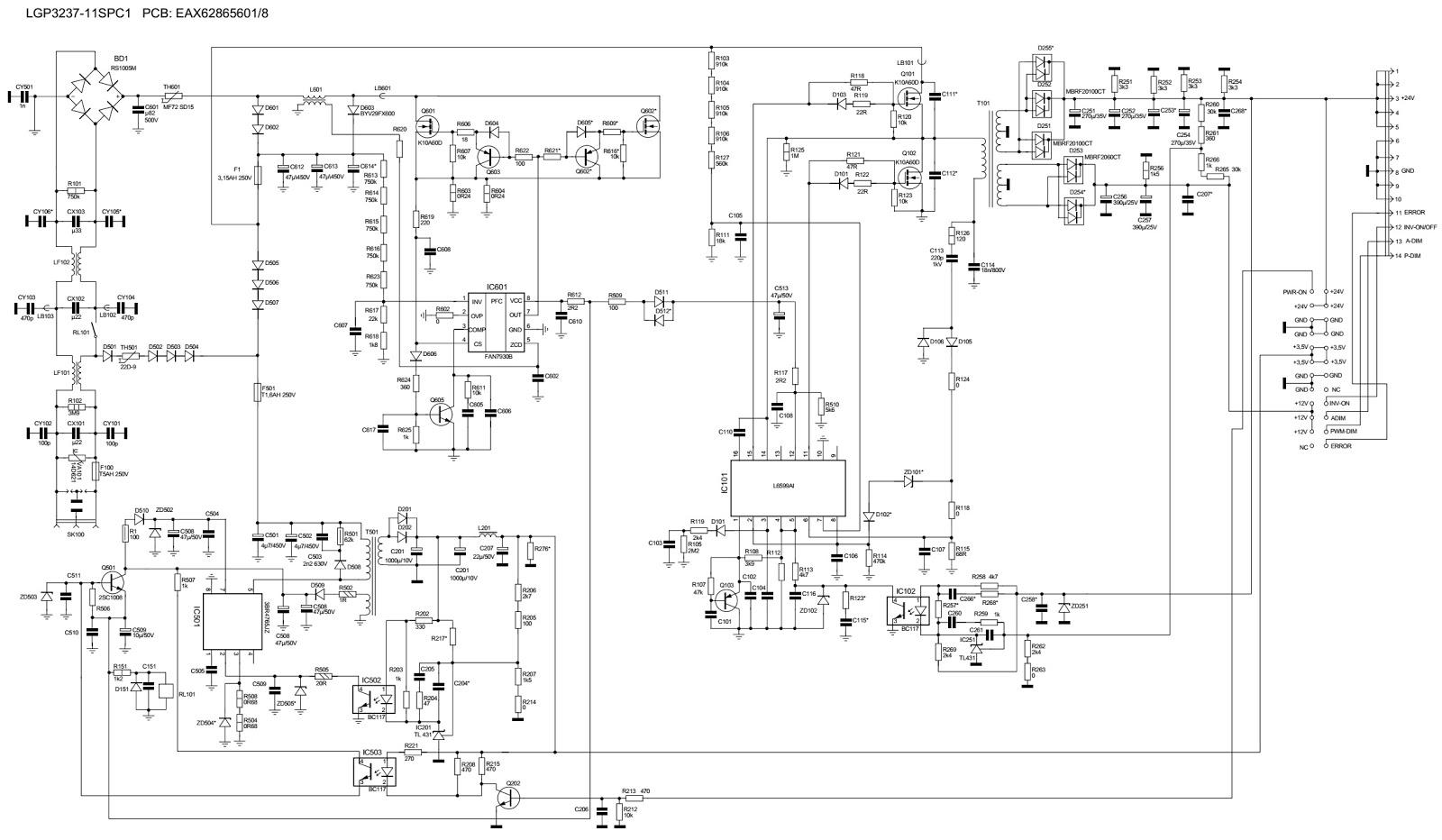 LG P3237 11SPC1 LCD TV SMPS Circuit Diagram EAX628656018