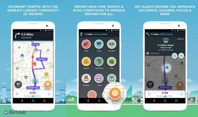 Waze Social GPS, Maps, and Traffic Screenshots
