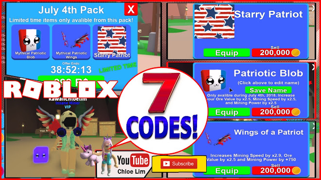 Roblox Mining Simulator Gameplay! [🎆July 4th PACK] 7 New