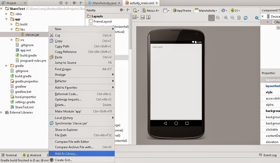 Create An Android Plugin For Unity Using Android Studio