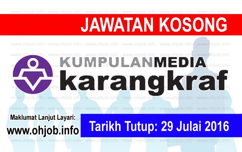 Jawatan Kerja Kosong Kumpulan Media Karangkraf logo www.ohjob.info julai 2016
