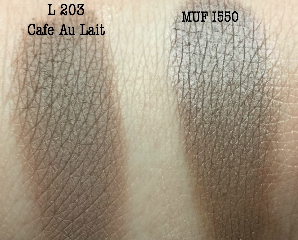 New L'oreal Shadows are they MUF dupes?