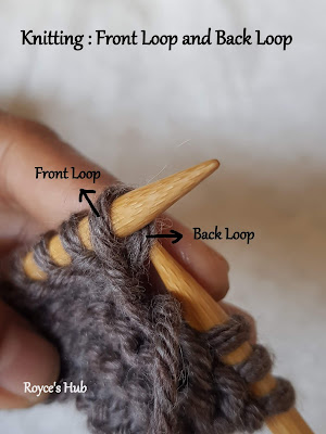 front loop and back loop in knitting