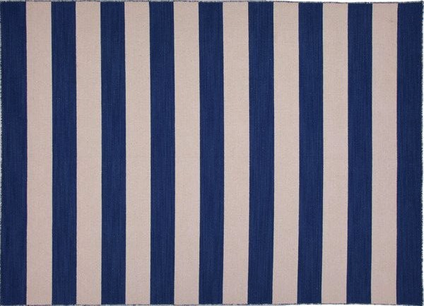 Lunch & Latte: styling: blue and white striped rugs