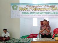 Peringatan Maulid Nabi Muhammad saw. di MTs Cijangkar.
