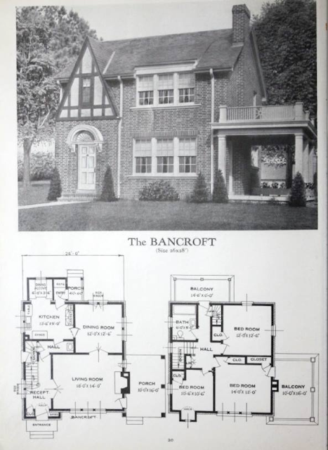 lookalike to Sears Barrington GVT Diana Bennett Somerset: Standard Homes Bancroft plan 1929