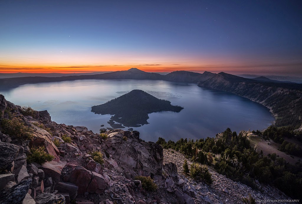 12. Venus and Jupiter rising, Crater Lake National Park - The World at Night with Clear Skies and No Light Pollution