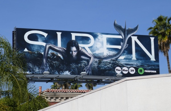Siren mermaid extension cut-out billboard
