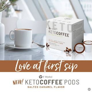 It Works Salted Caramel Keto Coffee Pods