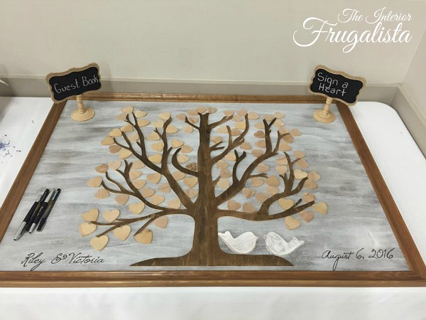 DIY Wooden Guest Book Tree