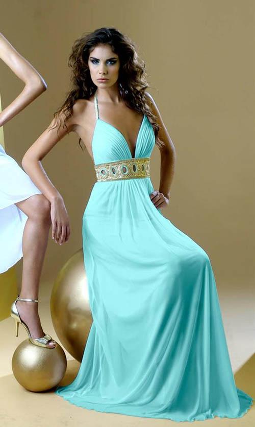 Kewtified: Long Elegant Prom Dresses Trends 2012