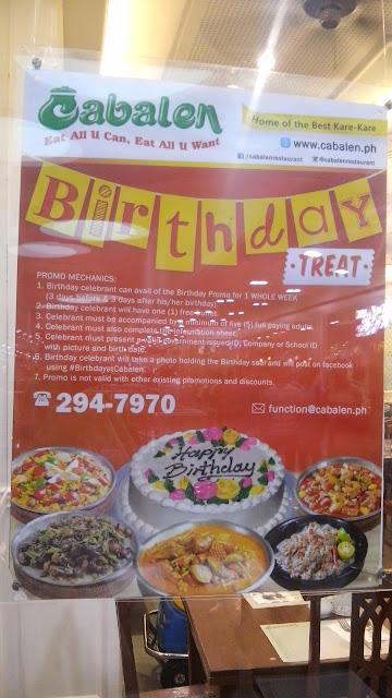 cabalen, birthday promo,