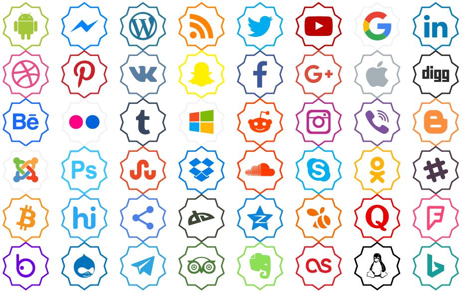 Download Font Color icon ttf otf social media