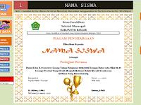 Aplikasi Cetak Piagam Penghargaan Juara Kelas Gratis