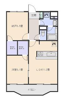 増尾4丁目 2LDK シャルマンフラットリヴァーⅠ