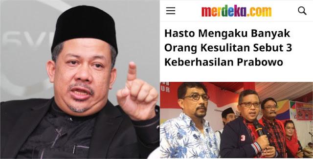 Hasto Minta Sebutkan 3 Keberhasilan Prabowo, Jawaban Fahri Hamzah Menohok