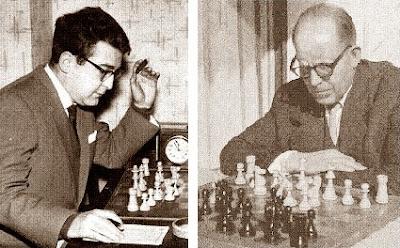 Los ajedrecistas Pablito García Sáinz y Àngel Ribera Arnal