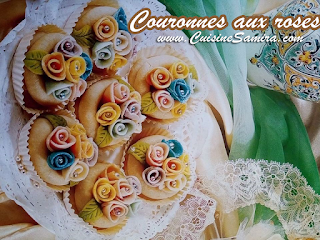 Couronnes aux roses cuisine samira tv