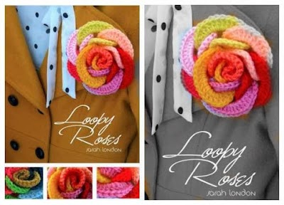 Cómo hacer una Rosa con Aros de Crochet