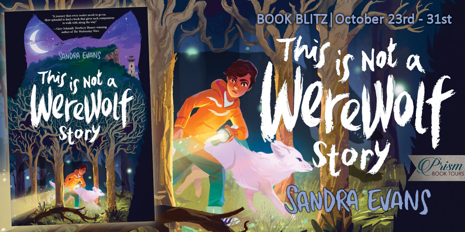 We're spotlighting THIS IS NOT A WEREWOLF STORY by SANDRA EVANS!