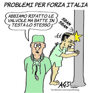 berlusconi, valvole, forza italia, operazione, satira, vignetta