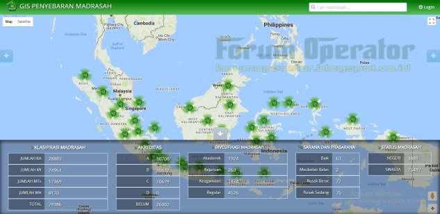 Panduan Sistem Informasi Geografis Sebaran Madrasah (GIS)