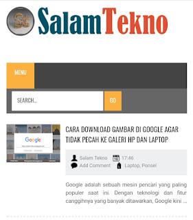 tampilan blog di uc browser