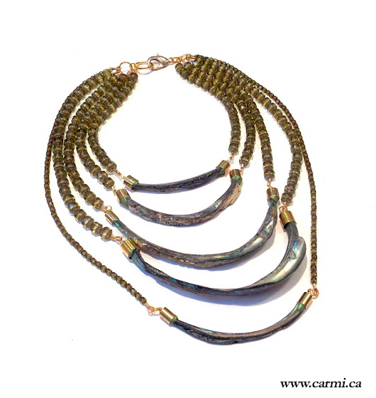 Cascading Abalone Shard Necklace