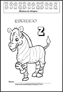 Treino ortográfico letra Z de zebra