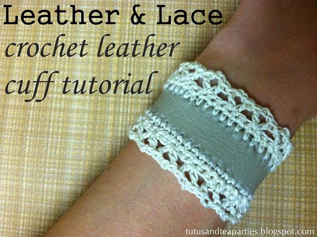Como hacer una Pulsera de Crochet y Cuero