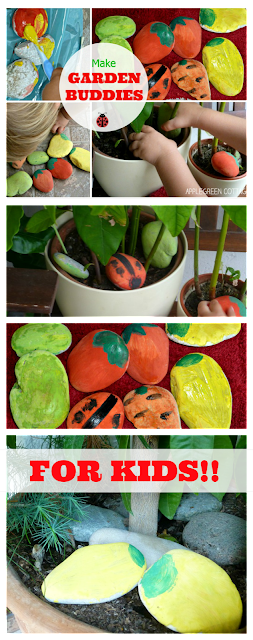 HOW-TO make DIY garden markers from painted rocks. Fun to make - even when you don't need them :)